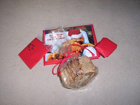 selbstgestempeltes Geschenkpapier, Garfield-Weihnachtskarte, schön #ctw09