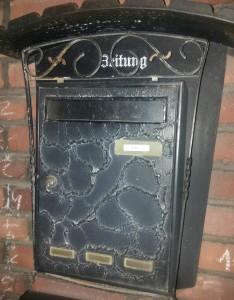 Briefkasten mit Namen