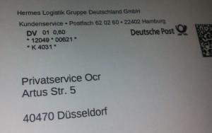 da war selbst die Postzustellerin ratlos